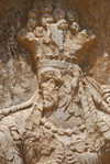 Iran - Naqsh-e Rustam: investiture of Narseh relief - female figure - photo by M.Torres