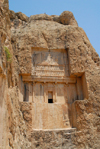 Iran - Naqsh-e Rustam: probably the tomb of Xerxes - sepulchre  - photo by M.Torres
