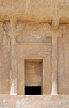Iran - Naqsh-e Rustam: entrance the the tomb attributed to Darius II Nothus - photo by M.Torres