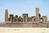 Iran - Persepolis: Darius' palace - the original main entrance, with a large double staircase leading to the terrace, seen from the south - photo by M.Torres