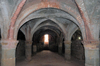Iran - Hormuz island: beautifully simple vaulted ceilings of the underground church - Portuguese castle - photo by M.Torres