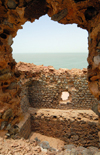 Iran - Hormuz island: Strait of Hormuz seen from the Portuguese castle - photo by M.Torres