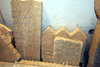Iran -  Bandar Abbas: old tomb stones at the Hindu temple - photo by M.Torres