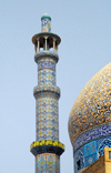 Iran -  Bandar Abbas: minaret - mosque near the bazaar - photo by M.Torres