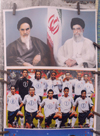Iran -  Bandar Abbas: local pop idols, the Mullahs (Khomeni and Khamenei) and the Portuguese football team - photo by M.Torres