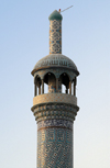Iran -  Bandar Abbas: on of the minarets of the main Sunni mosque - photo by M.Torres