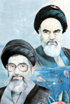 Iran - Tehran - Supreme Leaders of Iran - Ayatollahs Ali Khamenei and Ruhollah KhomeiniIran - photo by M.Torres