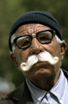 Iran - Hamadan: man with large moustache - photo by W.Allgower