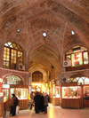 Tabriz - East Azerbaijan, Iran: 15th-century covered grand bazaar - vaulted hall - Tabriz bazaar - Unesco world heritage - photo by N.Mahmudova