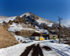 Kandovan, Osku - East Azerbaijan, Iran: snow covered road - village entrance - photo by N.Mahmudova