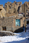 Kandovan, Osku - East Azerbaijan, Iran: brick buildings and troglodite homes - winter - photo by N.Mahmudova