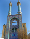 Yazd, Iran: Hazireh Mosque - portal with dazzling tile work - photo by N.Mahmudova