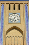 Yazd, Iran: Clock tower - detail - photo by N.Mahmudova
