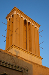 Yazd, Iran: wind tower at Heidarzadah's Museum of Coin and Antropology - badghir - photo by N.Mahmudova