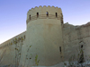 Yazd, Iran: city walls - tower and ramparts - military architecture - photo by N.Mahmudova