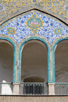Iran - Tehran - bazar mosque- balcony with tiles - photo by M.Torres