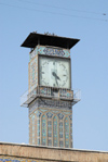 Iran - Tehran - bazar mosque- clock - photo by M.Torres