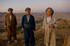 Duhok / Dohuk / Dehok / Dahok, Kurdistan, Iraq: three Kurdish men in traditional attire in the cliffs above the city - baggy pantaloons, a shirt, a cummerbund in which valuables and daggers are kept and a close-fitting turbanlike head wrap - Cilî Kurdî - photo by J.Wreford
