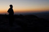 Duhok / Dohuk / Dehok / Dahok, Kurdistan, Iraq: silhouette of a Kurdish man - photo by J.Wreford