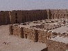 Iraq - Ukhaidir: the castle - desert hunting castle of Prince Isa Ibn Musa - Abbasid architecture - stone-and-wood castle (photo by A.Slobodianik)