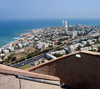 Haifa, Israel: the city and the Mediterranean sea from above - photo by E.Keren