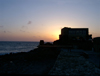 Israel - Qesarriya / Caesarea Maritima / Caesarea Palaestina, Haifa district: sunset at the Crusader's dungeons - Mediterranean sea - photo by Efi Keren