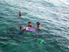 Israel - Eilat: on vacation - swimmers - photo by Efi Keren