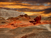 Israel - Eilat - Timna Valley Park: a storm of red - mushroom shaped red sandstone rock - hoodoo - photo by Efi Keren