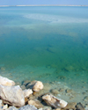 Israel - Dead sea: salt boulders and emerald waters - photo by Efi Keren