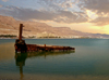Israel - Dead sea: rusting - photo by Efi Keren