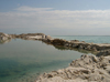 Israel - Dead sea: salt island - lagoon - photo by Efi Keren
