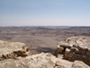 Israel - Mitzpe-Ramon: Ramon Crater - edge of the crater, called a makhtesh - Negev desert - photo by E.Keren
