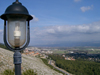 Israel - Tzfat: view of the valley - lamp - photo by E.Keren