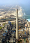 Israel - Hadera: Orot Rabin power station - Bird's eye view - photo by E.Keren