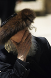 Israel - Jerusalem - old Orthodox Jew with fur hat praying - Shtreimel hat - photo by Walter G. Allgöwer