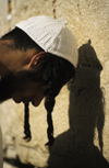 Israel - Jerusalem - young Orthodox Jew praying at the Western Wall - photo by Walter G. Allgöwer