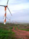 Golan Heights, Israel: wind turbines - wind power units - WPU - photo by E.Keren