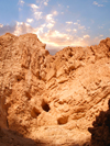 Ein Gedi oasis and National Park, South district, Israel: sky and the rocky Judean desert - photo by E.Keren