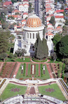 Haifa, Israel: the Bahai temple on mount Carmel - Shrine of the Ba'b - designed by Canadian architect William Sutherland Maxwell - Unesco world heritage site - photo by J.Kaman