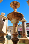 Jerusalem, Israel: Muristan ornamental fountain and market, Suq Aftimos - the fountain honors Sultan Abed al-Hamid II - Muristan, Christian quarter - photo by M.Torres