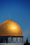 Jerusalem / al-Quds, Israel: golden dome and blue tiles - Dome of the Rock - Kipat Hasela - erected on the site of the Second Jewish Temple, demolished during the Roman Siege of Jerusalem - Temple Mount, Har haBáyith - Esplanade of the Mosques - Haram el-Sherif - photo by M.Torres