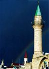 Israel - Akko / Acre: Sinan Pasha mosque - rainbow - Unesco world heritage site - photo by J.Kaman