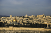 Jerusalem / Al-Quds: skyline, walls, cemetery and Dome of the Rock - photo by Walter G. Allgöwer