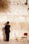 Israel - Jerusalem / Yerushalayim / JRS : wailing wall - man standing (photo by Gary Friedman)