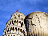 Italy / Italia - Pisa: classical vase and the tower (photo by M.Bergsma)