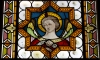 Italy / Italia - Umbria: angel - stained glass (photo by Emanuele Luca)