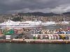 Italy / Italia - Genoa / Genova / GOA (Liguria): container harbour and Grimaldi lines ferry to Sardinia - ferries GNV (photo by J.Kaman)