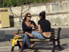 Italy / Italia - Umbria: girls chat on a bench - people (photo by Emanuele Luca)