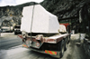 Italy / Italia - Tuscany / Toscana - Carrara: marble blocks on a truck head for the hrbour for export (photo by W.Schmidt)