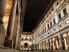 Italy / Italia - Florence / Firenze (Toscany / Toscana) / FLR : Uffizi Gallery - Galleria degli Uffizi  - one of the oldest and most famous art museums in the world - designed by  Giorgio Vasari for Cosimo I dé Medici as the offices for the Florentine magistrates - nocturnal - photo by M.Bergsma